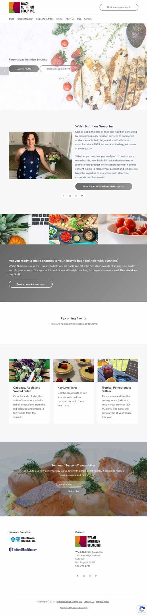 Full Front WordPress Web Design View
