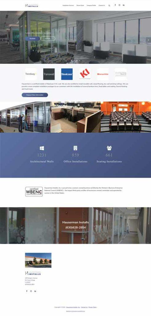 full Elk Grove Village WordPress web site design