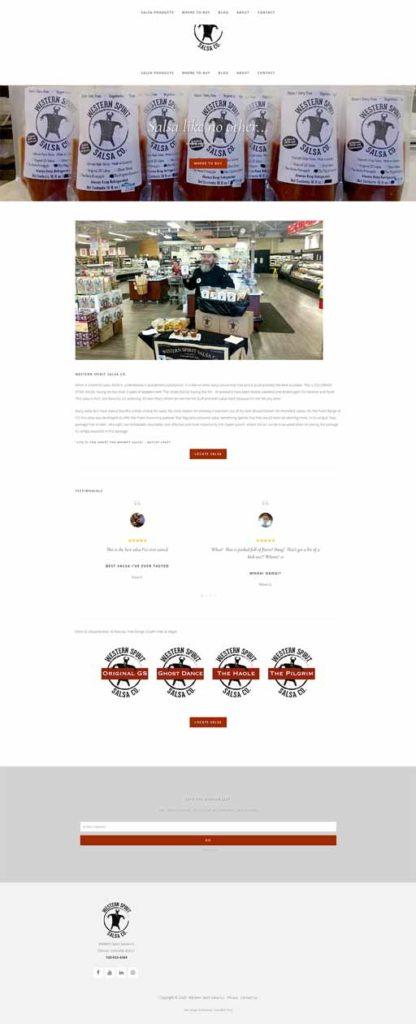 full Denver, CO WordPress Development website view