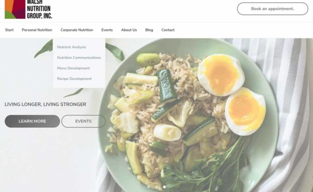 Burr Ridge, IL WordPress Web Design Walsh Nutrition Group
