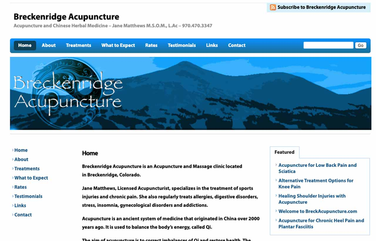 Breckenridge, CO Web Design WordPress